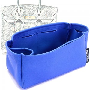 Birkin 25/30/35/40 Suedette Singular Style Leather Handbag Organizer (Royal Blue) (More Colors Available)