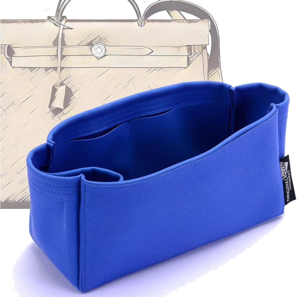Herbag 31/ 39 Suedette Singular Style Leather Handbag Organizer (Royal Blue) (More Colors Available)