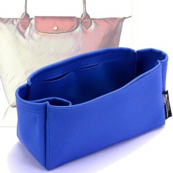 Longchamp Le Pliage  Suedette Singular Style Leather Handbag Organizer (Royal Blue) (More Colors Available)