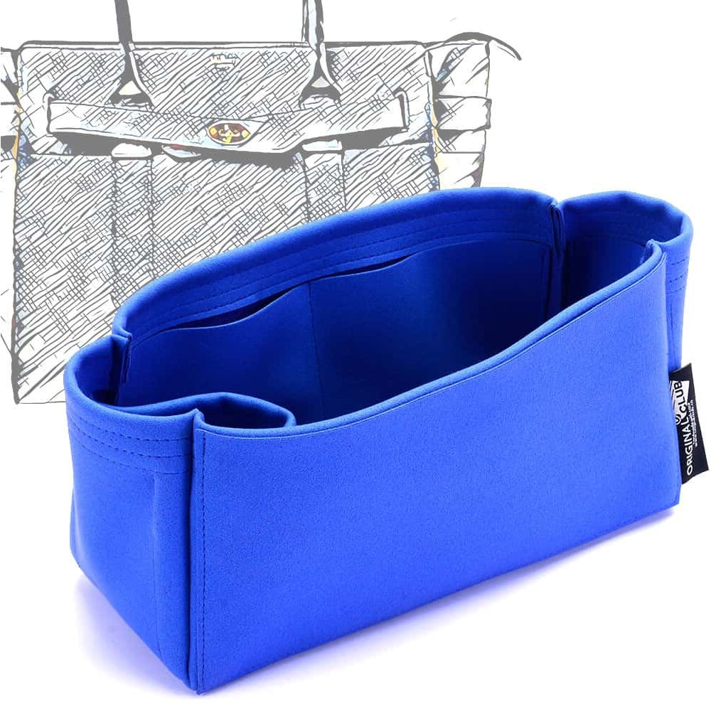 Small Zipped Bayswater Tote Suedette Singular Style Leather Handbag Organizer (Royal Blue) (More Colors Available)