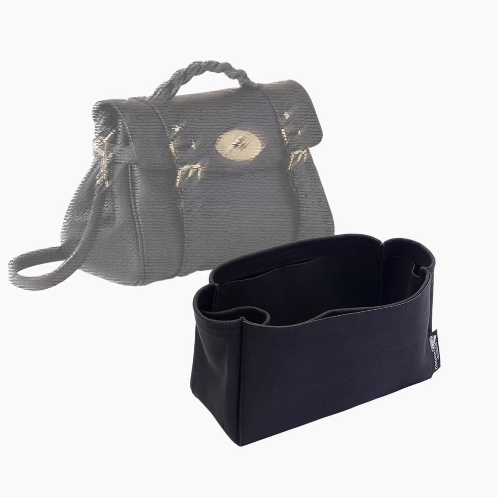 Alexa (Mulberry) Suedette Singular Style Leather Handbag Organizer Liner (Black) (More Colors Available)