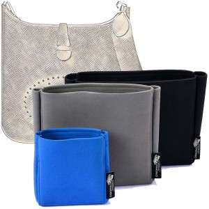 Evelyne III (TPM, PM and GM )Suedette Basic Style Leather Handbag Organizer (More Colors Available)