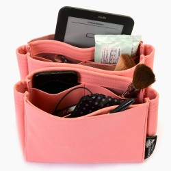 NeoNoe Suedette Leather Basic Style Set of 2 Handbag Organizers in Rose Pink (More Colors)