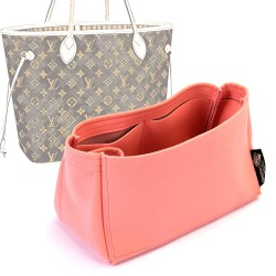 Neverfull PM / MM / GM  Suedette Singular Style Leather Handbag Organizer (Rose Pink) (More Colors Available)