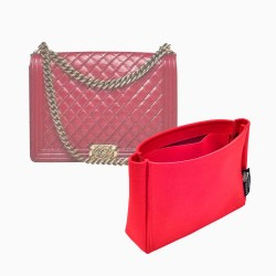 Ch. Boy Bag Suedette Basic Style Leather Handbag Organizer (More Colors Available)