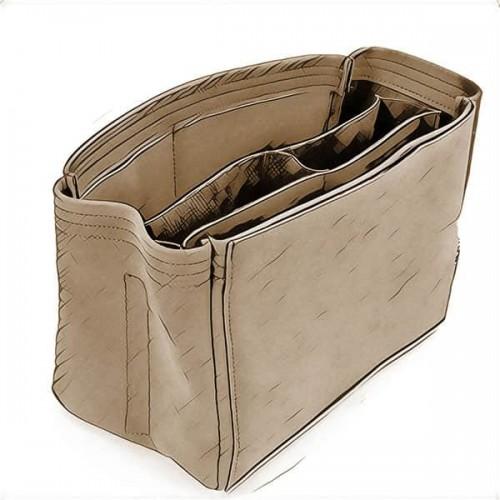 587e99e18792 Compartment Style Nubuck Bag Organizers