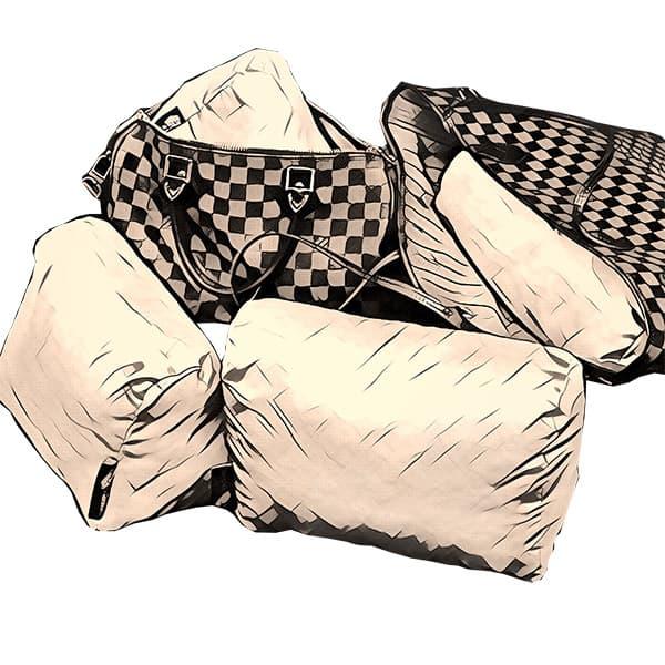 Satin Bag Shaper Pillows