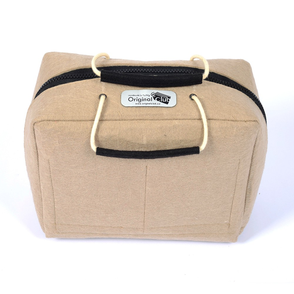 Felt Compact and Portable Organizer Bag With Handles - Size: 26 / 20 / 14 cm