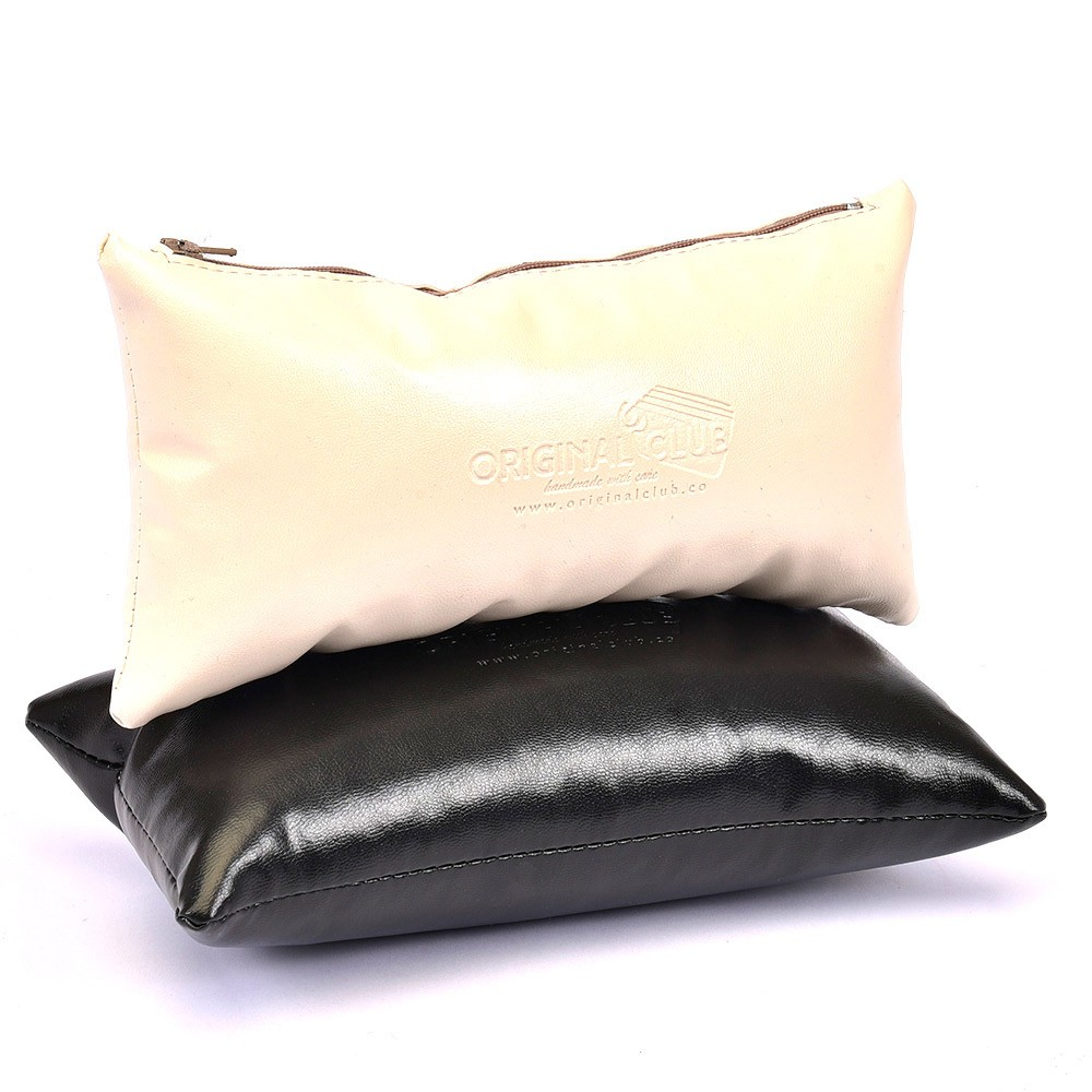"Leather Pillow Bag Shaper In Small Size (12"" X 5,51"")"