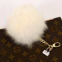 Pompom Bag Charm with a Cute Mini Bag Figure