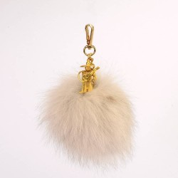 Pompom Bag Charm with a Mexican Guitar Man Figure