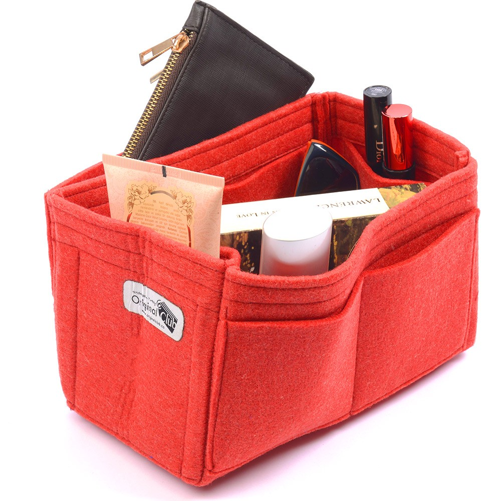 Felt Handbag Organizer with One Round Holder for Speedy 25 and Other Similar Size Handbags