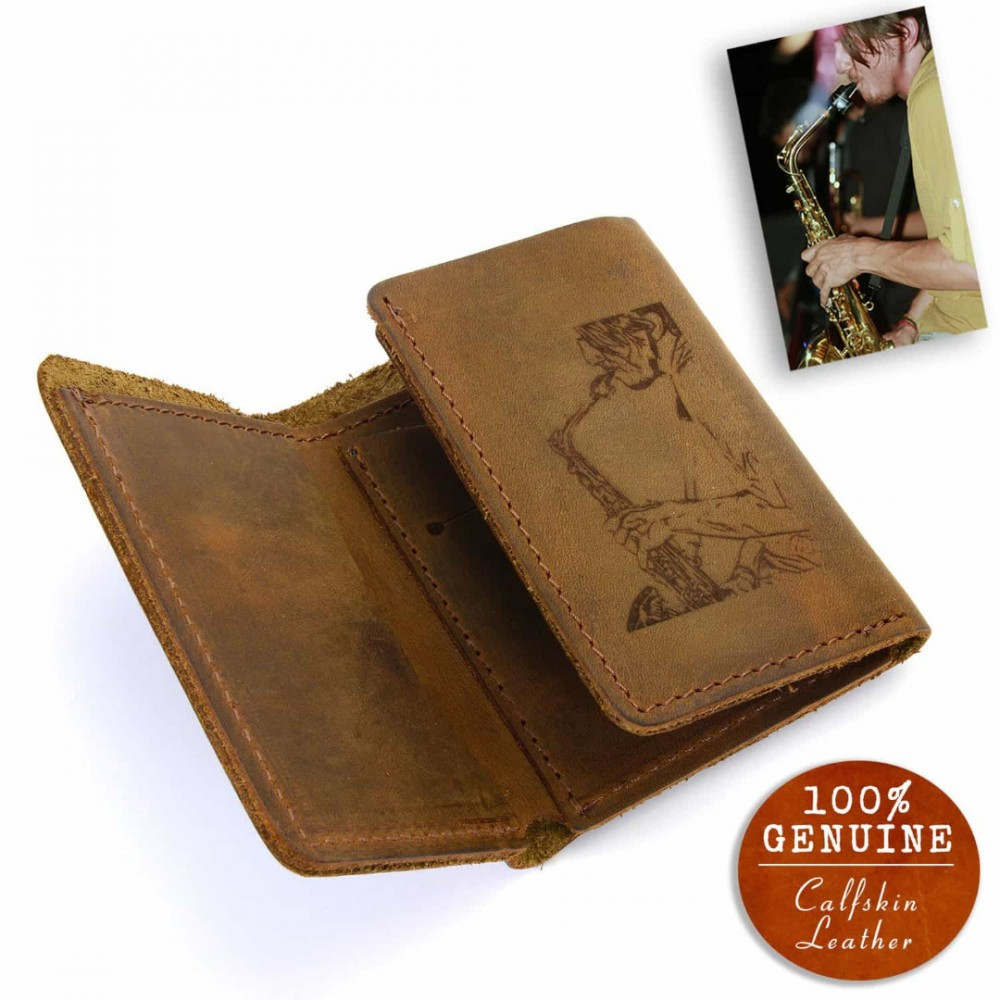 f0a2dd8418b2f Personalized with your photo leather trifold wallet in cinnamon color jpg  1000x1000 Personalized tri wallet