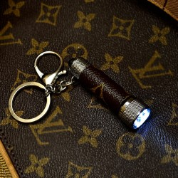 Upcycled LV Monogram Keychain Bag Light