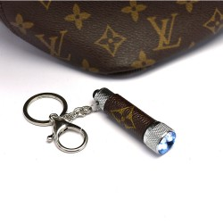 Upcycled LV Monogram Keychain Bag Light