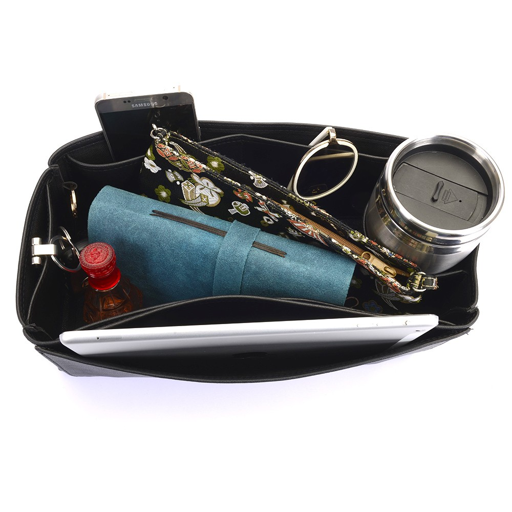 Vegan Leather Handbag Organizer - Size: 34 / 14 / 13 cm