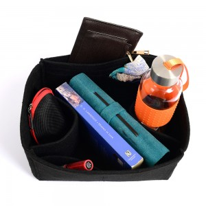 Felt Handbag Organizer with Two Round Holders - Size: 28 / 18 / 14 cm (Neverfull MM and Similar Size Bags)