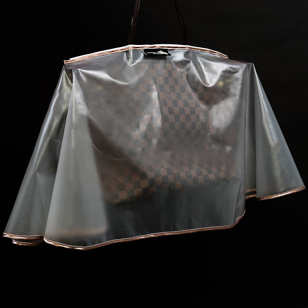 Rain Slicker For Designer Handbags, Tote Bags And Purses in Clear Color ( Large Size )