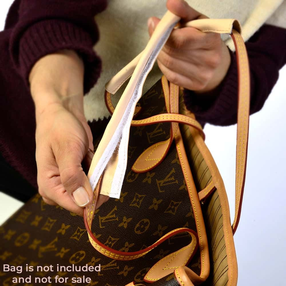 Handmade Natural Leather Handle Protection Cover Wraps For Neverfull PM/MM/GM Bags