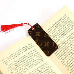 Louis Vuitton Inspired Bookmark Made with Upcycled Authentic Canvas