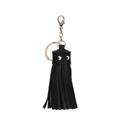 Tassel Face Leather Tassel Bag Charm