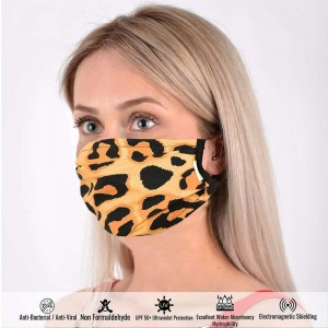 Breathable Cotton Face Mask in Leopard Pattern
