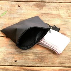 Rain Slicker For Designer Handbags, Tote Bags And Purses in Transparent Black Color ( Large Size )