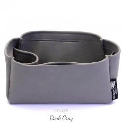 Suedette Handbag Organizer with One Round Holder - Size: 29 / 16 / 13 cm