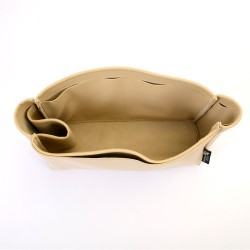 Cerf Tote Suedette Singular Style Leather Handbag Organizer (Beige) (More Colors Available)