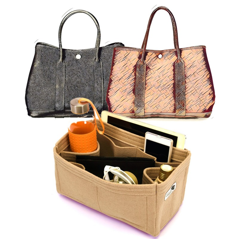 bag and purse organizer with regular style for hermes garden party. Black Bedroom Furniture Sets. Home Design Ideas