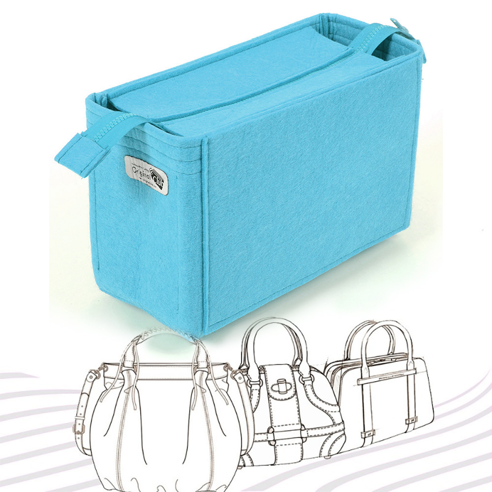 Bag and Purse Organizer with Zipper Top Style with Custom Size